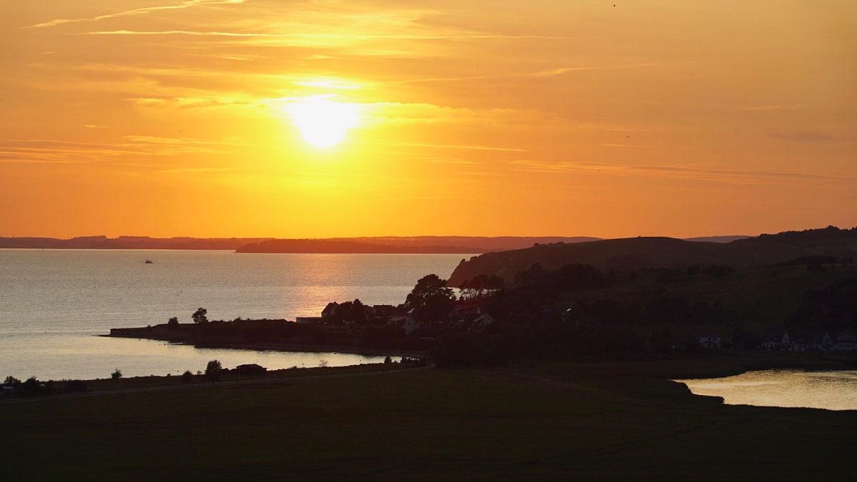 Sonnenuntergang in Klein Zicker